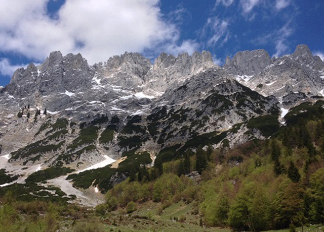 Wilder Kaiser Mountains, majestic view