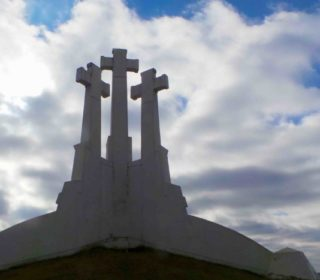Hill of 3 crosses a must visit when travelling in Lithuania