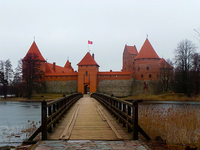 Check out Trakai castle when travelling to Lithuania.