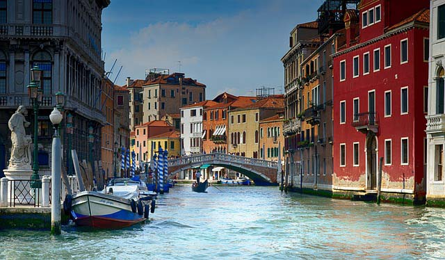 Venice canals, just one reason it is one of the most romantic destinations in the world.