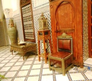 fine furniture inside a restored riyad