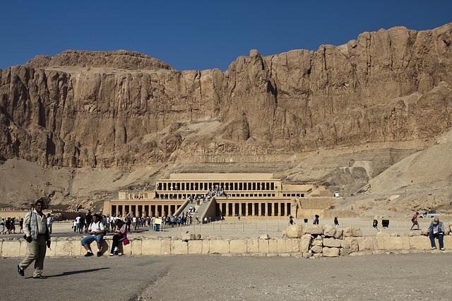 Hapshetsut's mortuary at Dar el Beihri, Luxor Egyptian Nile cruise