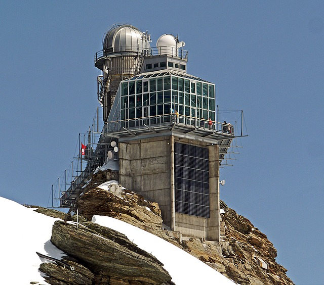 The observatory and station building on the Jungfraujoch