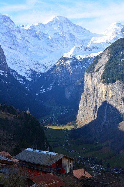 Looking over Lauterbrunnen from Wengen on a Swiss trian journey to the Top of the World