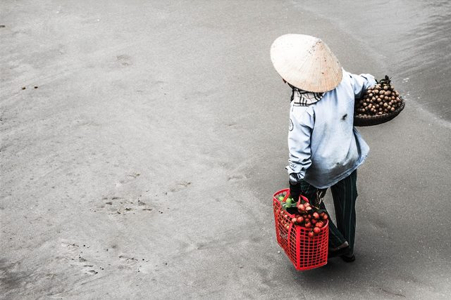 Vietnamese street market woman