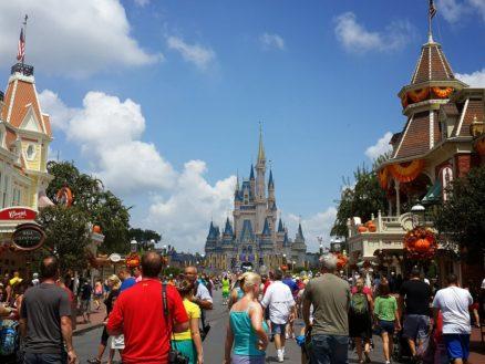 People enjoying a sunny day at Walt Disney World