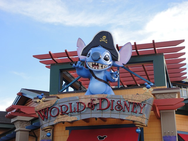 A cute pirate mouse guards the entrance at this Disney Orlando attraction