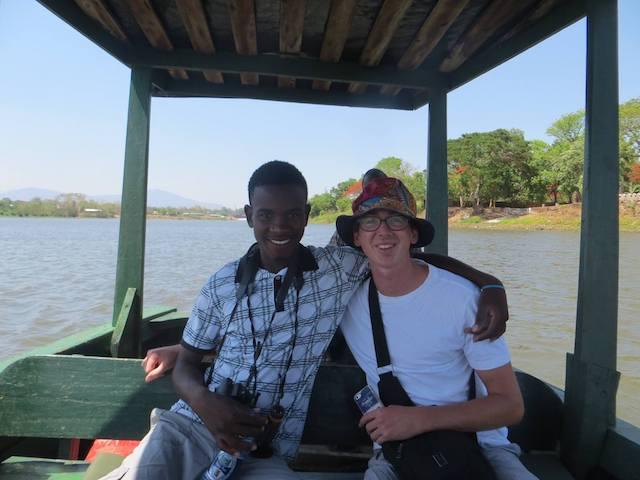 Boat trip with my good Malawian friend