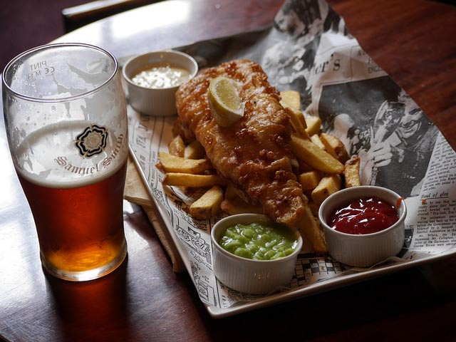 fish and chips - long layover in london