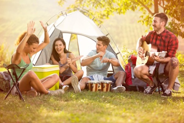 games and entertainment for camping.
