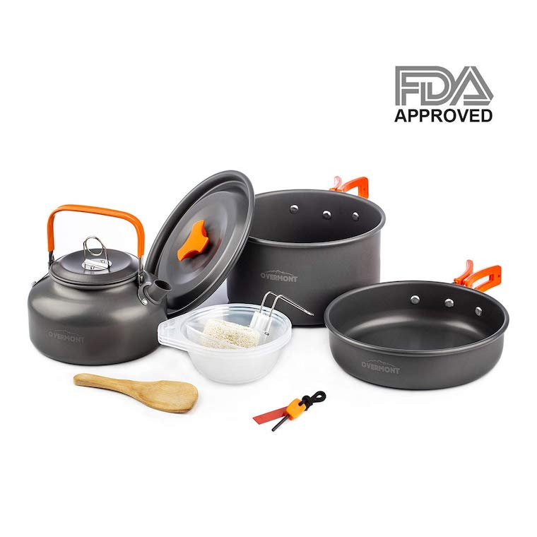 Overmont Ultralight Camping Cookware Set<br />
