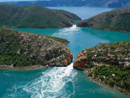 Horizontal falls in Australia