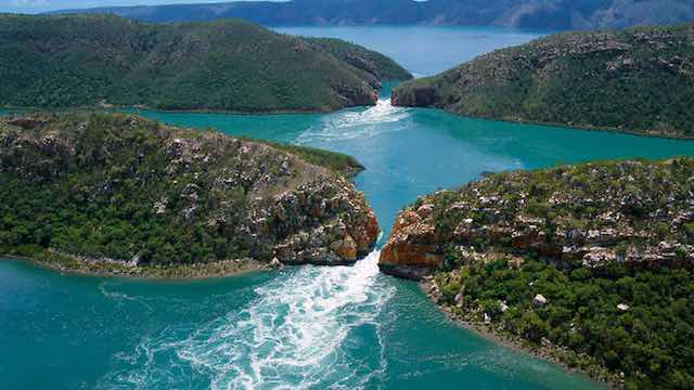 Horizontal falls in Australia