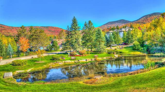 Vermont Stowe lake view