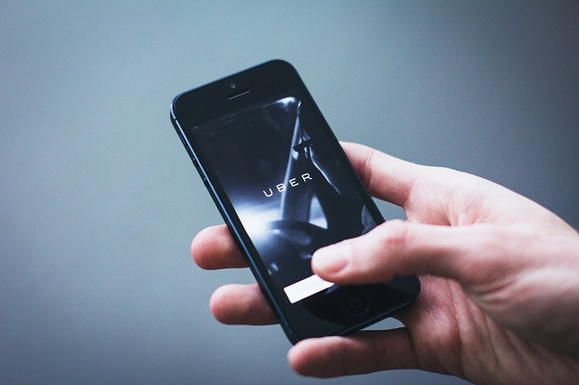 Taxi booking app Uber