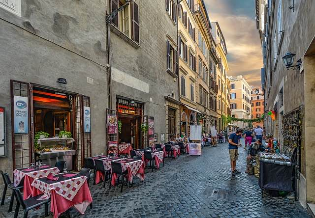 Italy street shopping