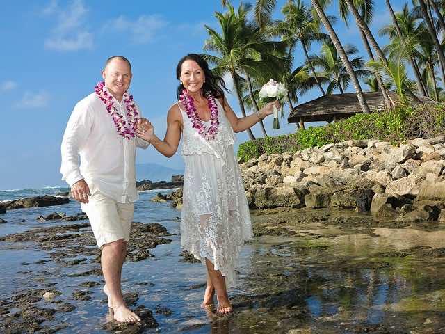 Romantic wedding in Hawaii