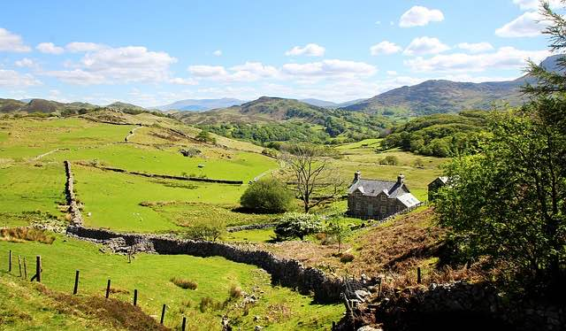 Amazing green views and nature in Snowdonia Wales