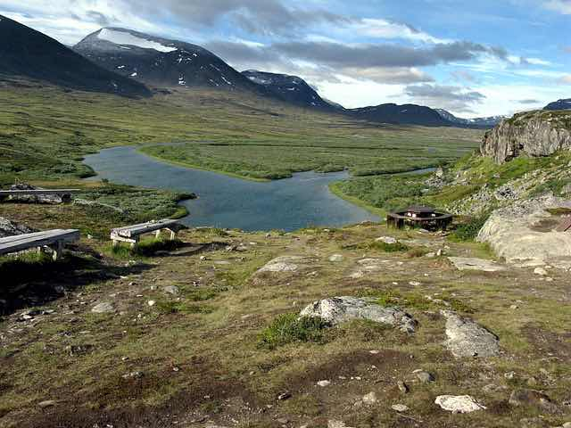 The famous Kungsleden hiking trail