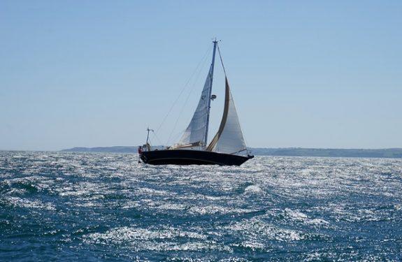 Yacht in Leros Island