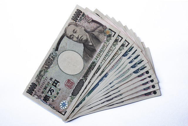 Japanese Yen currency in Japan