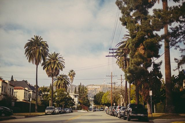 the nice weather and streets of LA