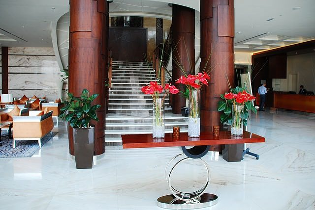 Hotel check-in procedures for guests