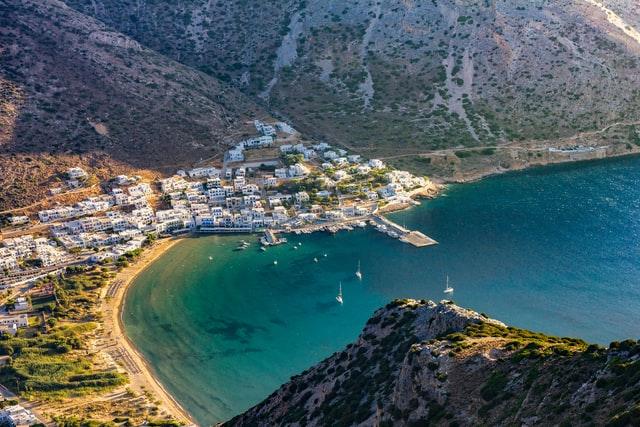 Greece-Town-beside-Sea