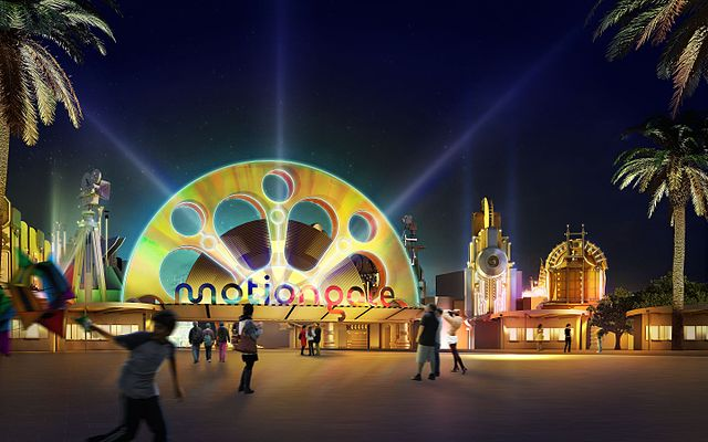 motiongate entrance dubai's top tourist attractions